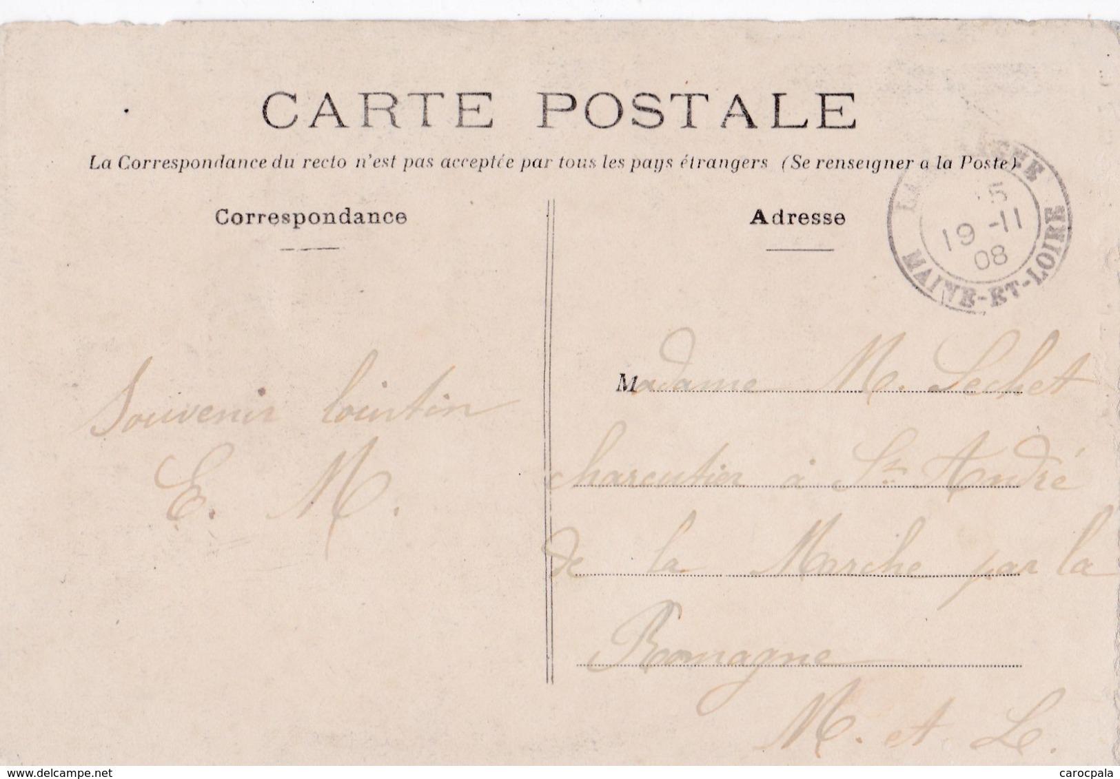Carte 1908 BEHUARD / UNE PROCESSION - France