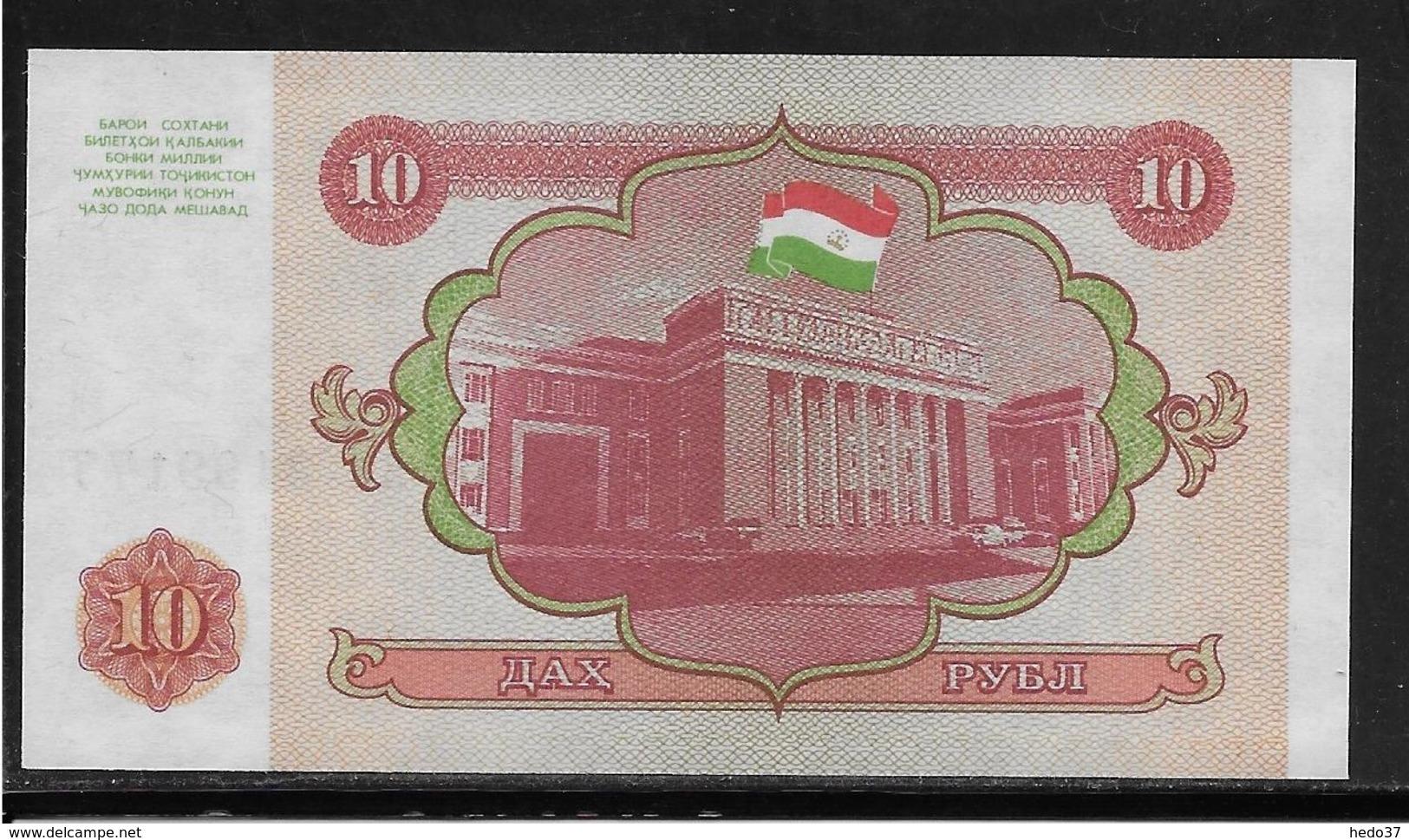 Tadjikistan - 10 Rubles - Pick N°3 - NEUF - Tadjikistan