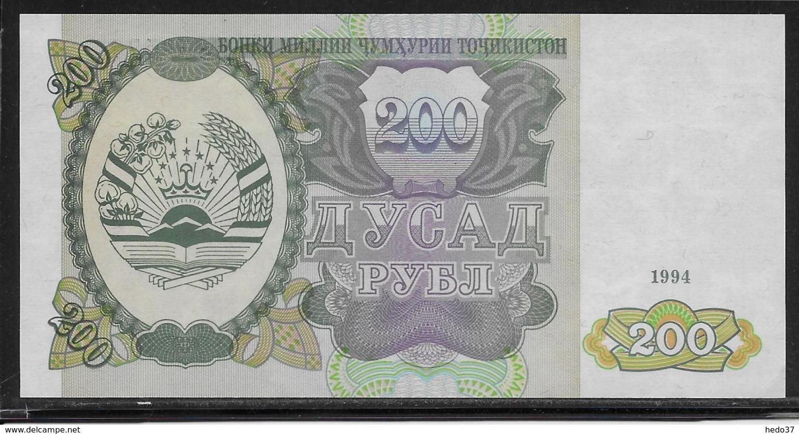 Tadjikistan - 200 Rubles - Pick N°7 - NEUF - Tadjikistan