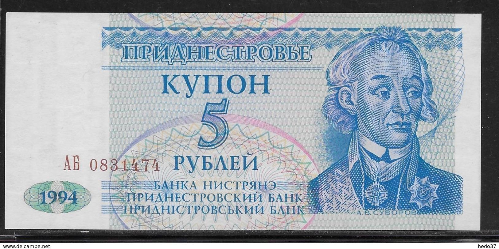Transnistria - 5 Rublei - Pick N°17 - NEUF - Billets