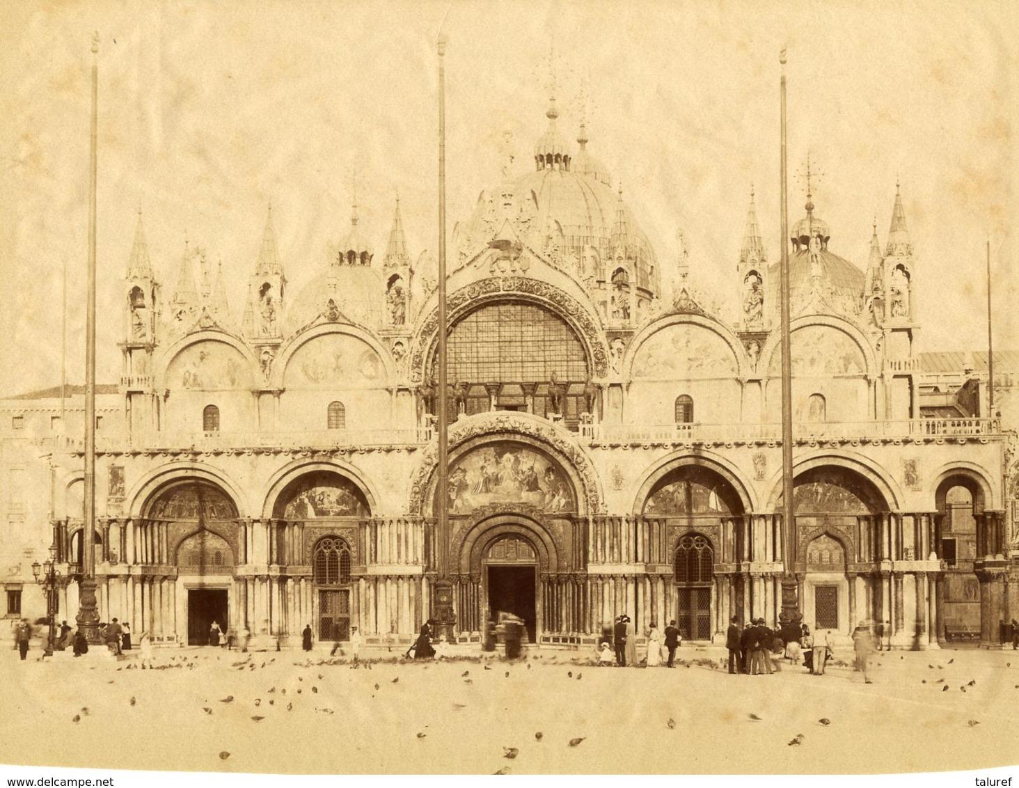 ITALIE - VENISE - Place St MARC - Tirage ALBUMINE - Circa 1875 - Anciennes (Av. 1900)