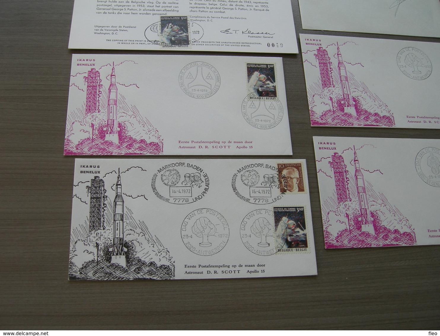 "BELG.1972 1622 ""Journée Du Timbre/dag Van De Postzegel"" LOT FDC - FDC"