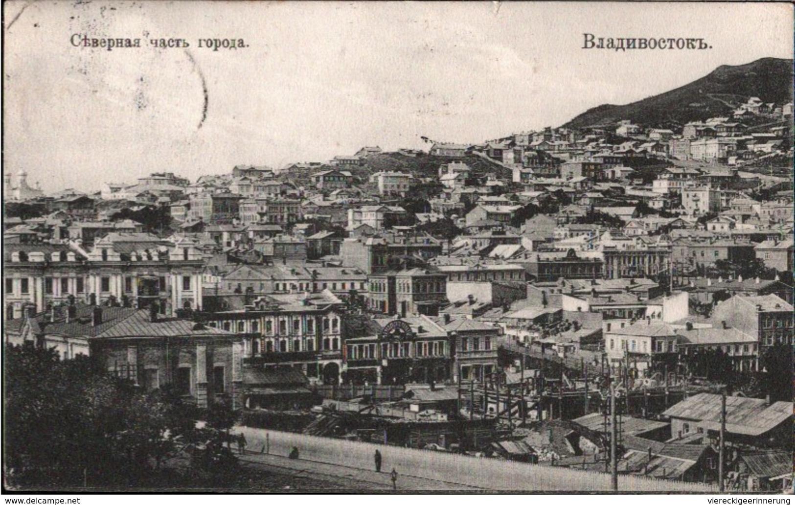 ! Alte Ansichtskarte 1910 Rußland, Russia, Russie, Wladiwostok, Bahnpoststempel - Russie