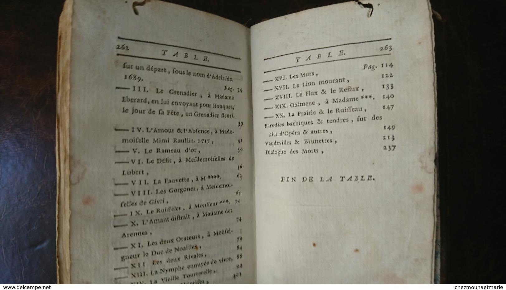 OEUVRES FABLES DE VERGIER TOME 1 LONDRES 1780 - LIVRE 263 PAGES 12.5 X 7.5 CM 110 GRAMMES - 1701-1800