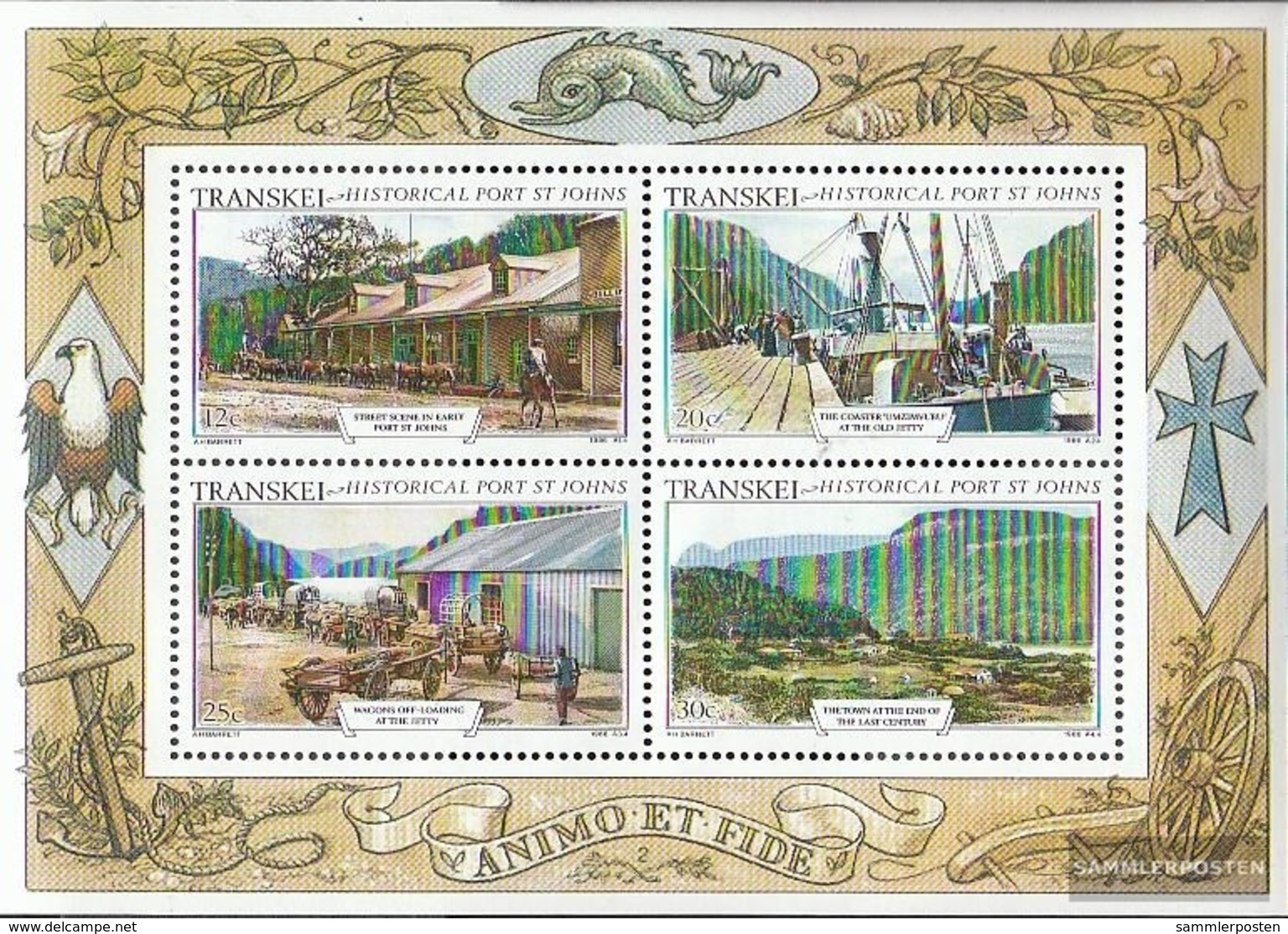 Südafrika - Transkei Blocco 2 (completa Edizione) Usato 1986 Vecchio Views - Transkei