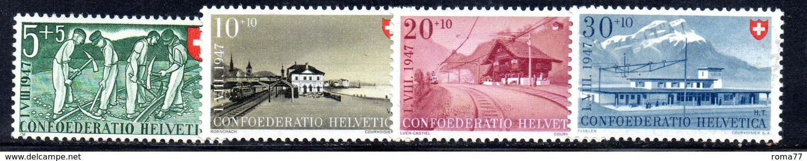 518/1500 - SVIZZERA 1947, Unificato N. 437/440 Con Gomma Integra ***  MNH Pro Patria - Pro Patria