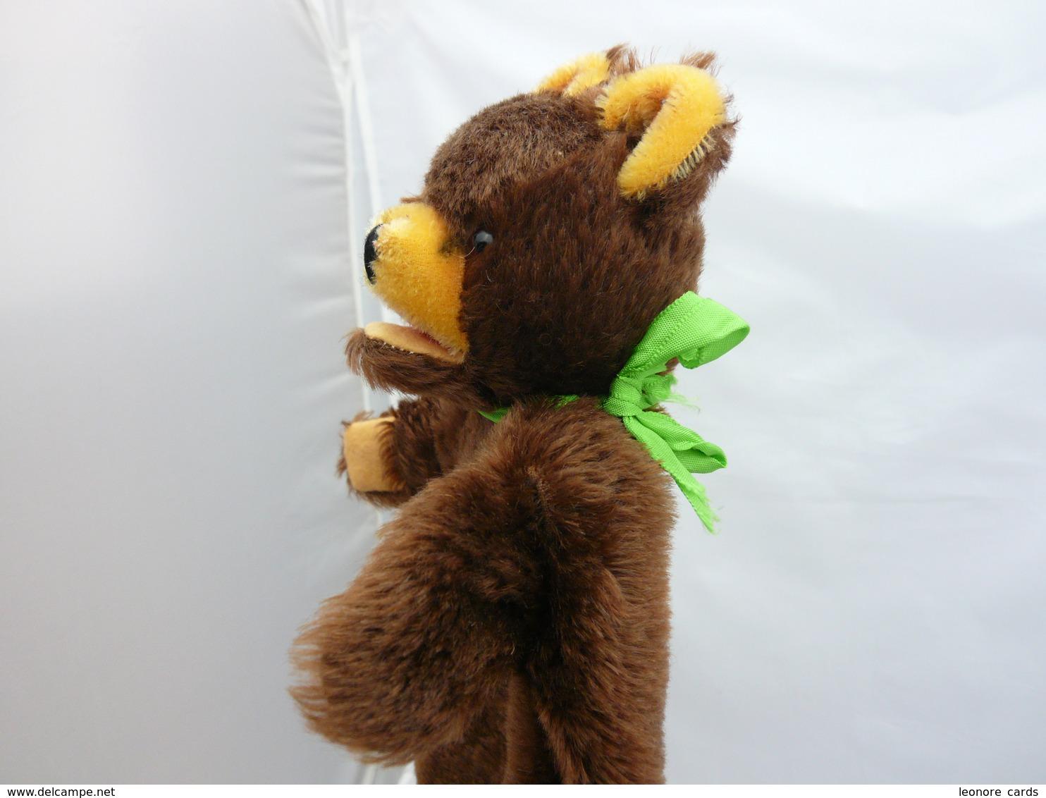 Marionnette à Main Ours TEDDY De Hermann Fourrure Marron 26 Cm - Marionette