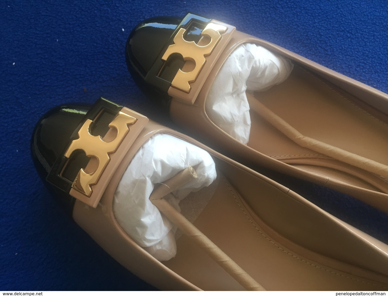 Tory Burch Gigi Color Block Patent Leather Pump Size 10.5 M MSRP $275 NWOT - Other