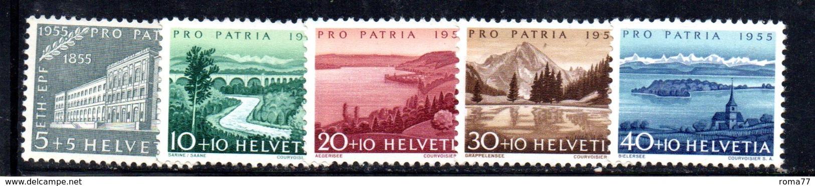 524/1500 - SVIZZERA 1949, Unificato N. 562/566 Con Gomma Integra ***  MNH Pro Patria - Pro Patria