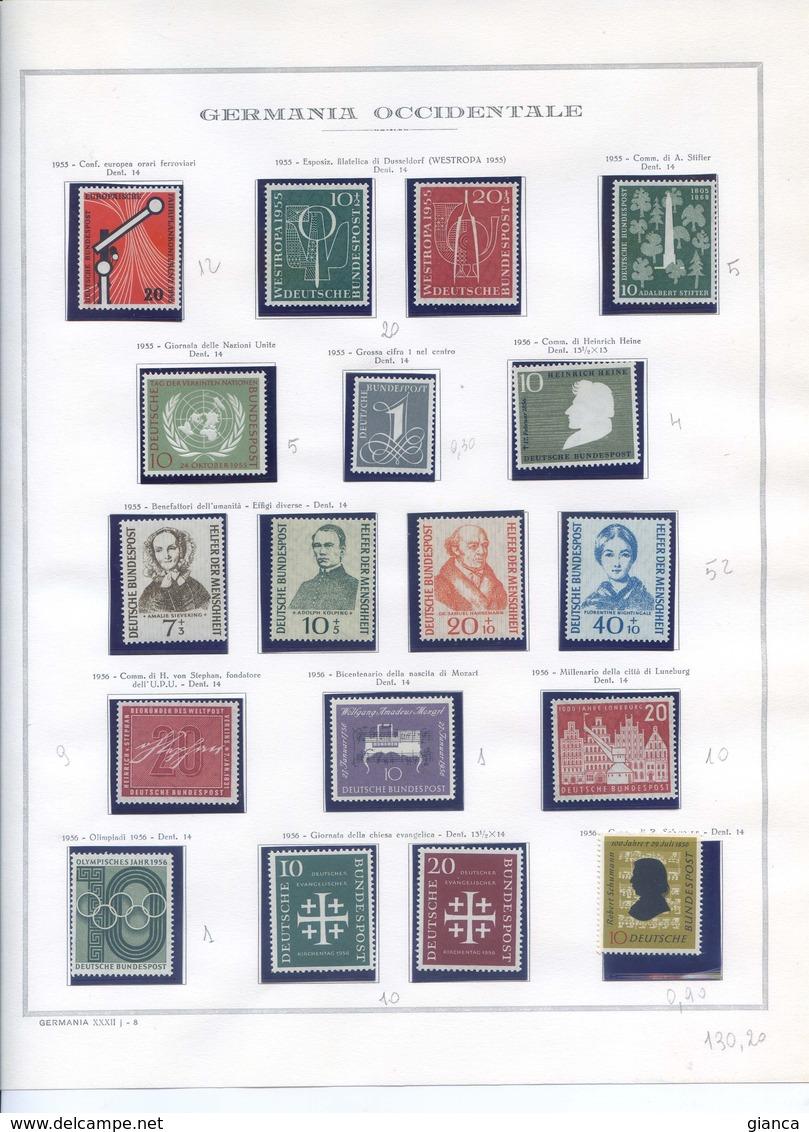 GERMANIA FEDERALE Collezione Completa Nuova Dal 1949 Al 1997 Su 184 Fogli Marini - Collezioni