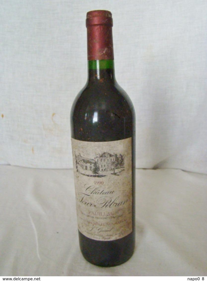 """Bouteille De 75 Cl. """" PAUILLAC """" """" Chateau Tour Pibran """" Année 1990 - Vin"""