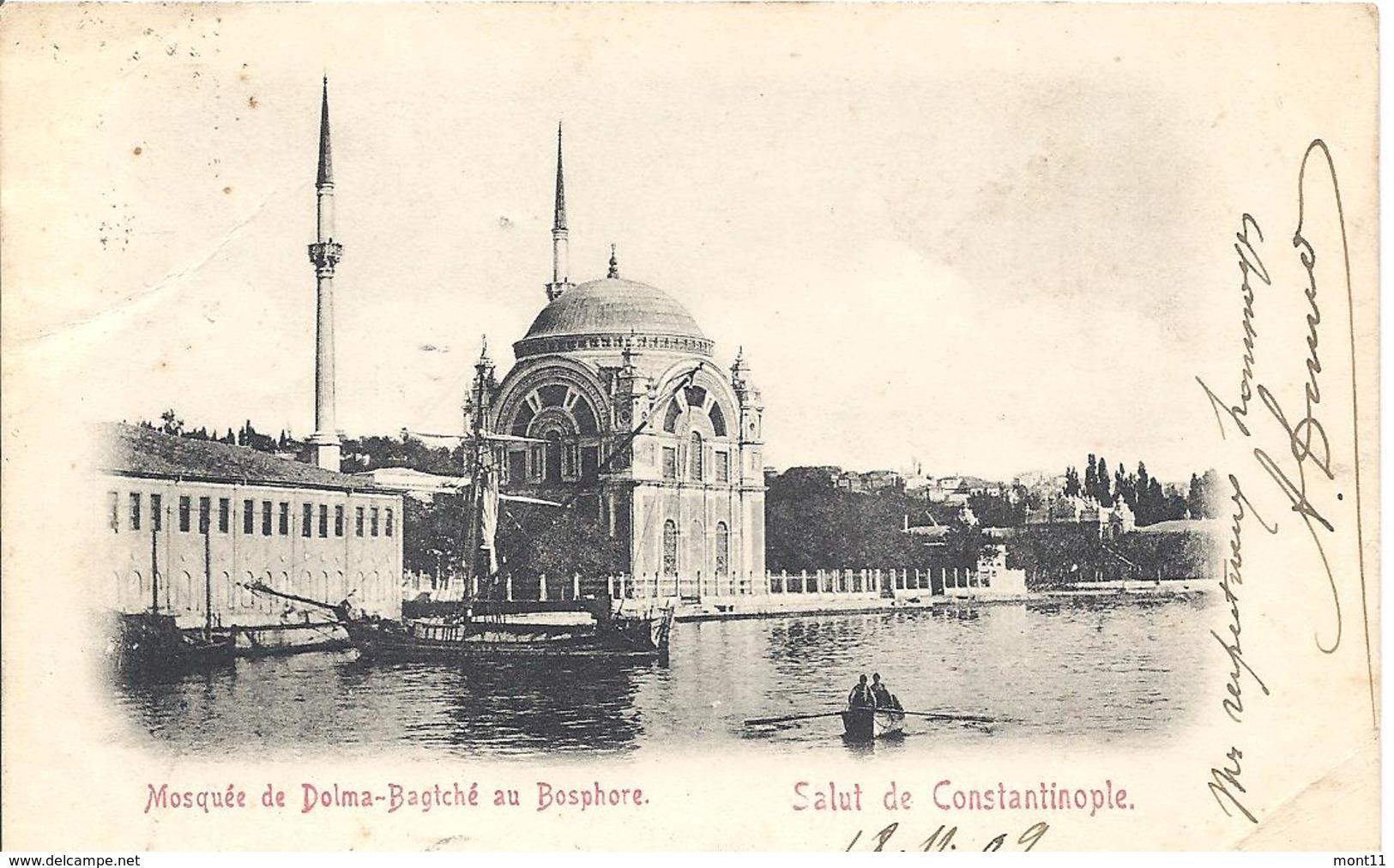 Ansichtskarte Von Constantinoble Aus Dem Jahre  1909 - Turchia
