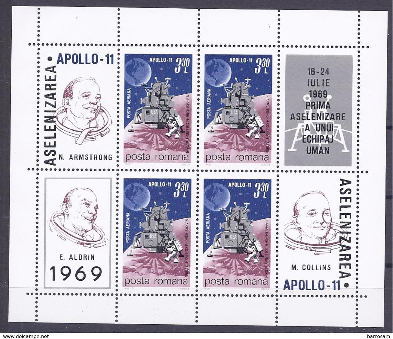 Romania1969: Block72mnh** Cat.Value $12 - Space