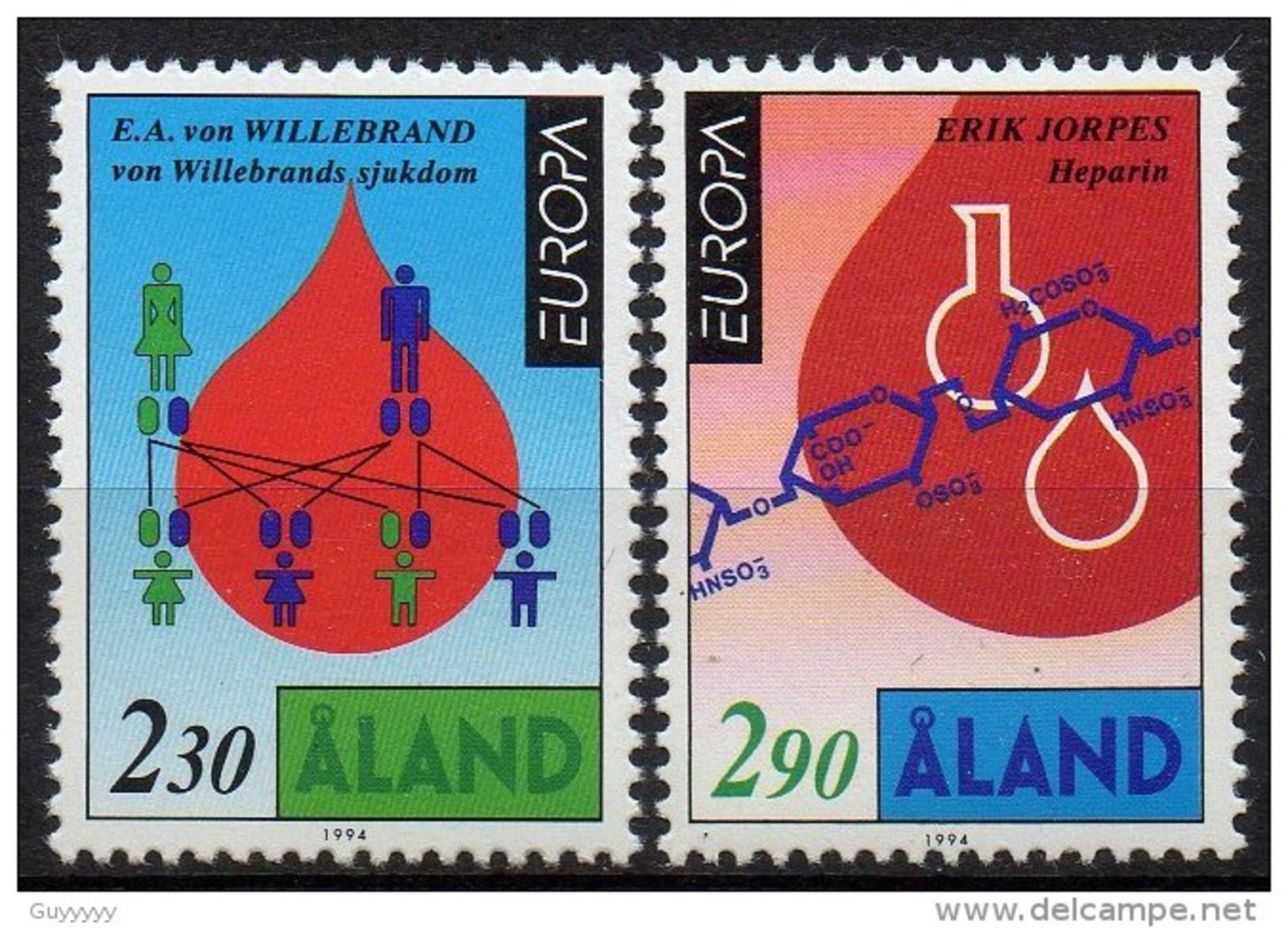 Aland - 1994 - Yvert N° 86 & 87 **  - Europa - Aland