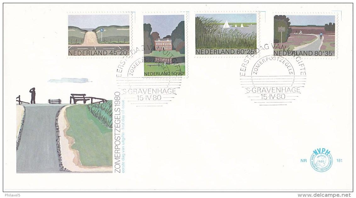 Nederland - FDC - Zomerzegels, Landschappen - Duinen/buitenplaats/merengebied/heide - NVPH E181 - Milieubescherming & Klimaat