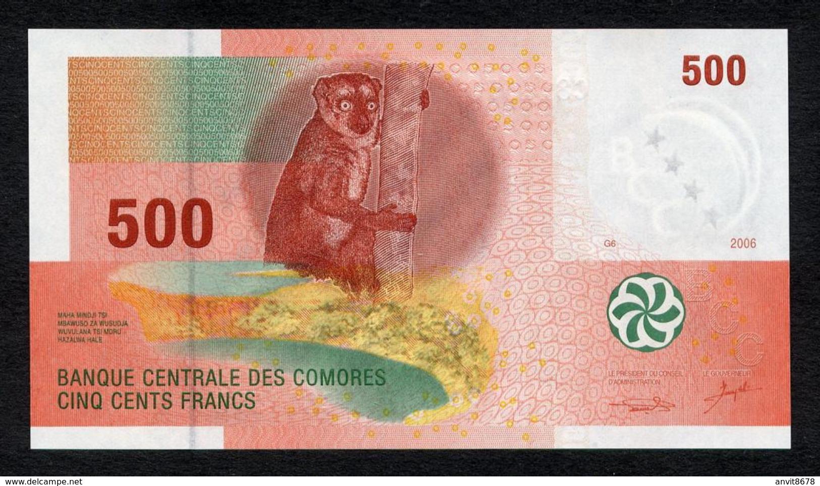 КОМОРСКИЕ ОСТРОВА 500  2006 UNC - Comores