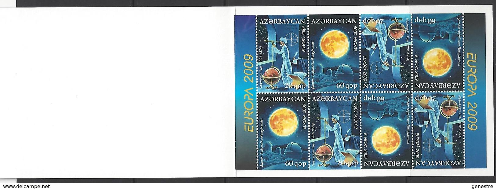 Azerbaïdjan / Azerbaycan - 2009 - Europa - BF78 (650/651) Astronomie  ** MNH - Azerbaïjan