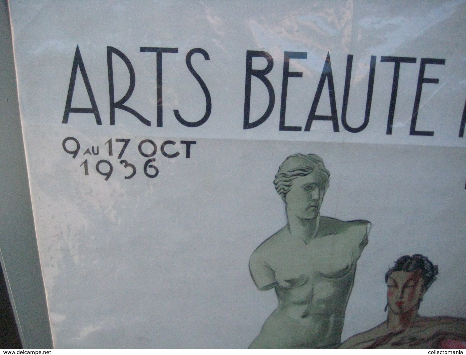 MASSONET  Affiche 75 X 113 Cm, Anno 1936 Bruxelles, Semaine De La Beauté - Arts BEAUTE Parure, Grote Poster Zeer Mooi VG - Lithographies
