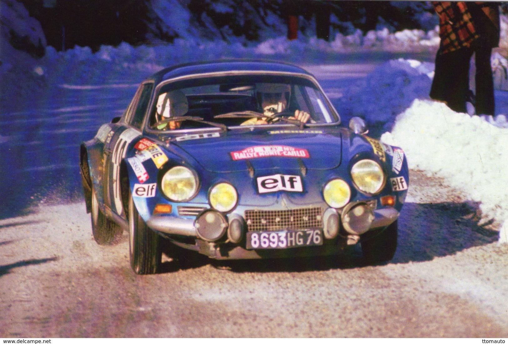 Alpine Renault A110  -  Monte-Carlo Rally 1973  -  J.C.Andruet/'Biche'  -  CPM - Rallyes