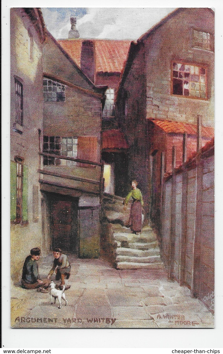 Whitby - Argument Yard - Winter Moore - Tuck Oilette 7501 - Whitby