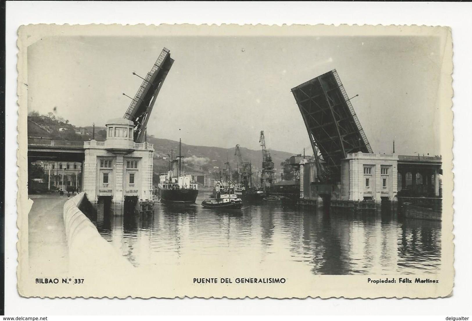 Carte Photo * Bilbao * Puente Del Generalisimo - Vizcaya (Bilbao)
