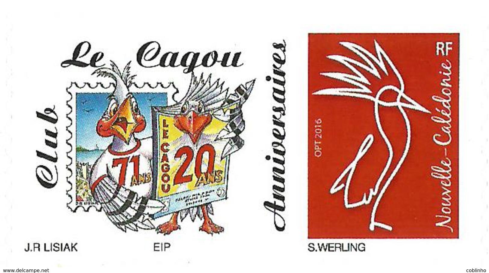 NOUVELLE CALEDONIE (New Caledonia)- Timbre Personnalisé - Club Le Cagou - 2018 - 4ème Type - Neufs