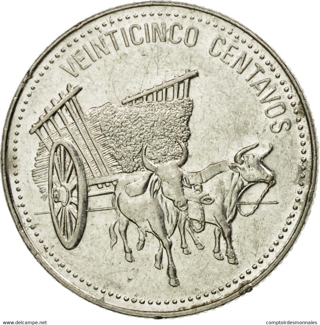Monnaie, Dominican Republic, 25 Centavos, 1990, TTB, Nickel Clad Steel, KM:71.2 - Dominicaine