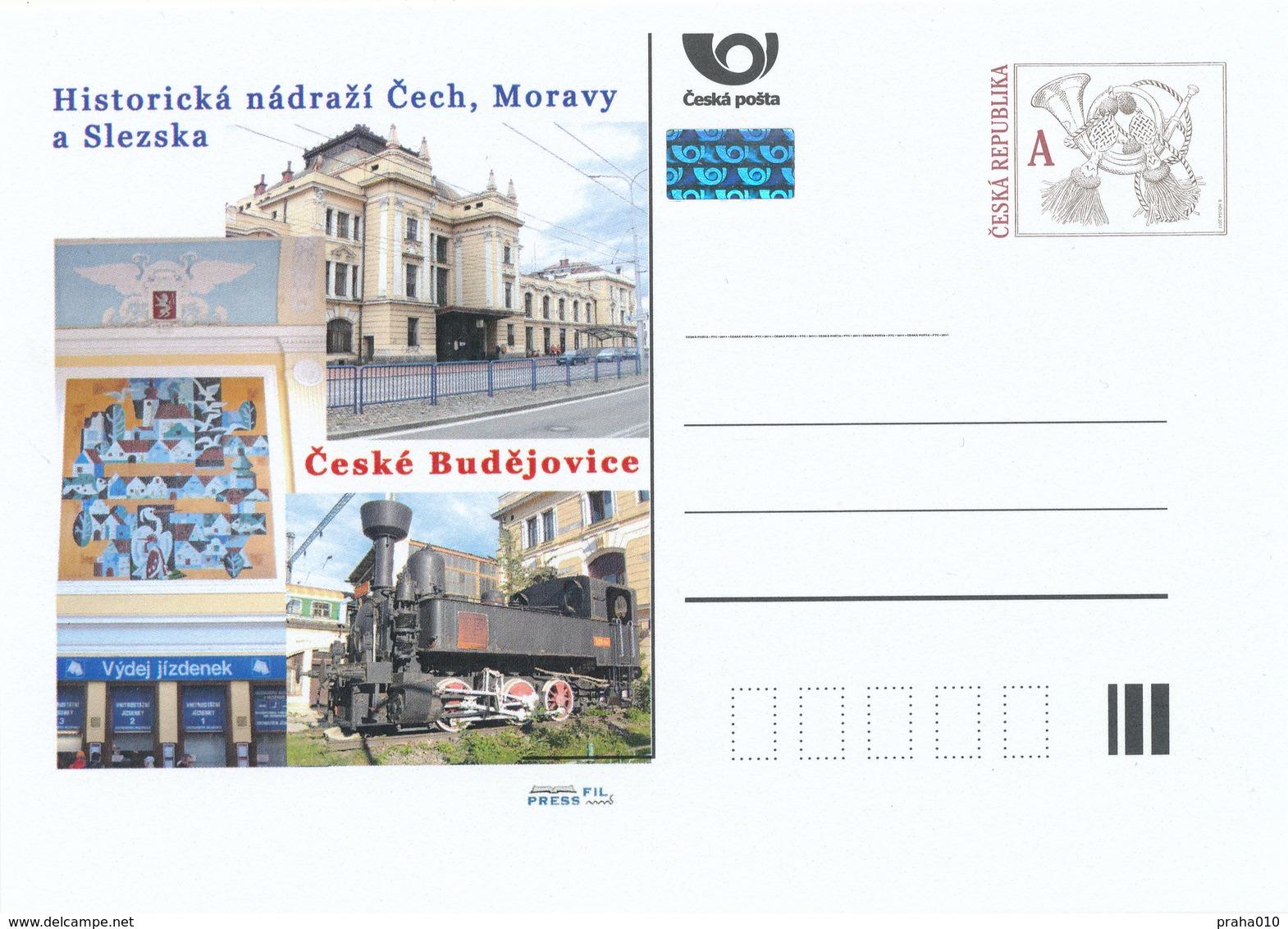 Rep. Ceca / Cart. Postali (Pre2015/50) Stazione Ferroviaria Storica In Boemia, Moravia E Slesia - C. Budejovice - Fabbriche E Imprese