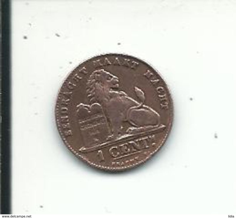 1  Cent  1901 FL - 1865-1909: Leopold II