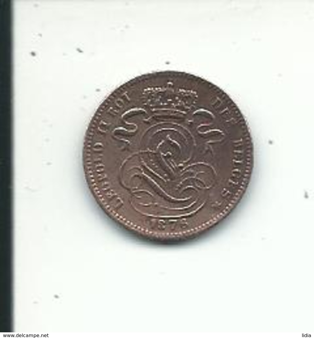 1  Cent  1876 FR - 1865-1909: Leopold II