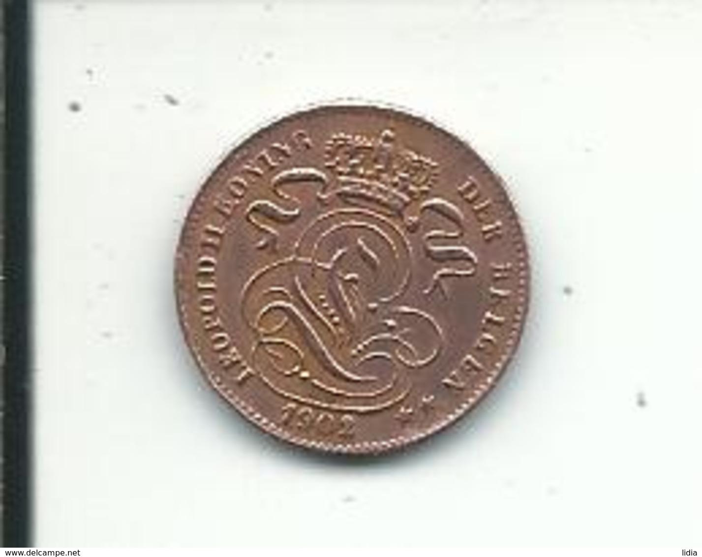 1  Cent  1902 FL - 1865-1909: Leopold II