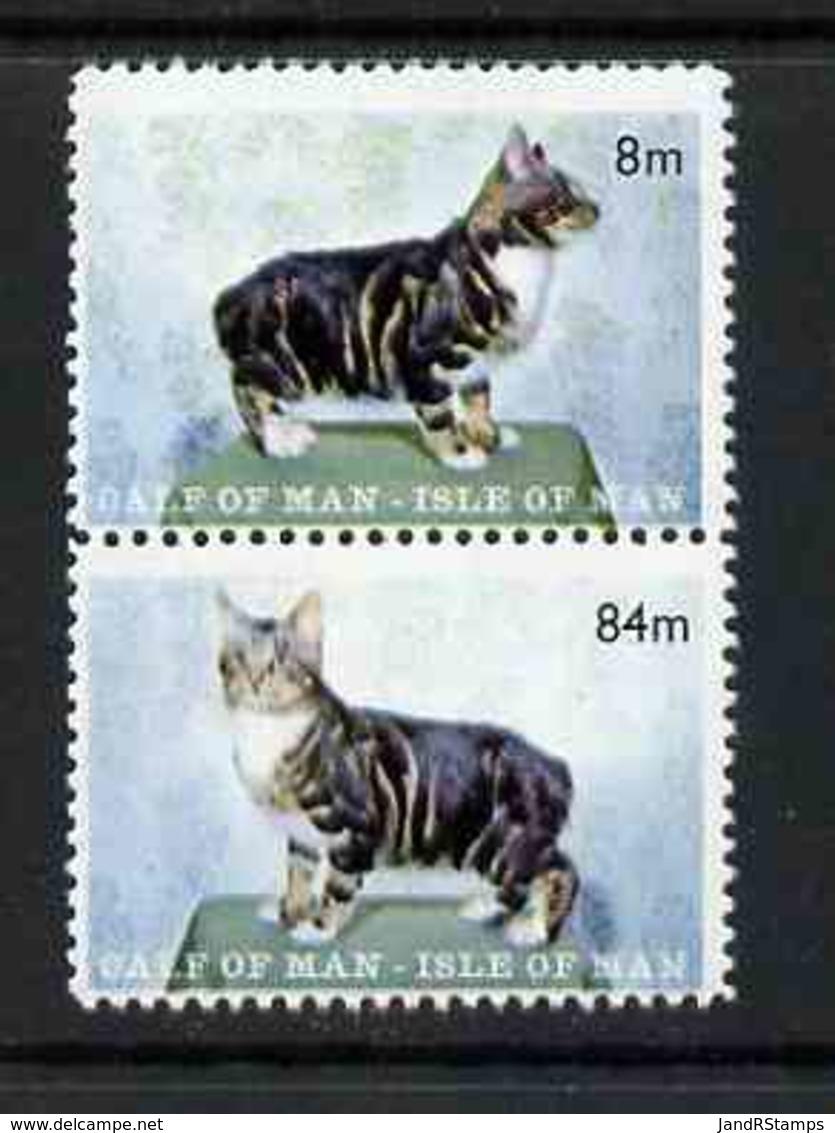 Calf Of Man 1970 Manx Cats Perf Set Of 2 U/m (Rosen CA160-61) - Local Issues