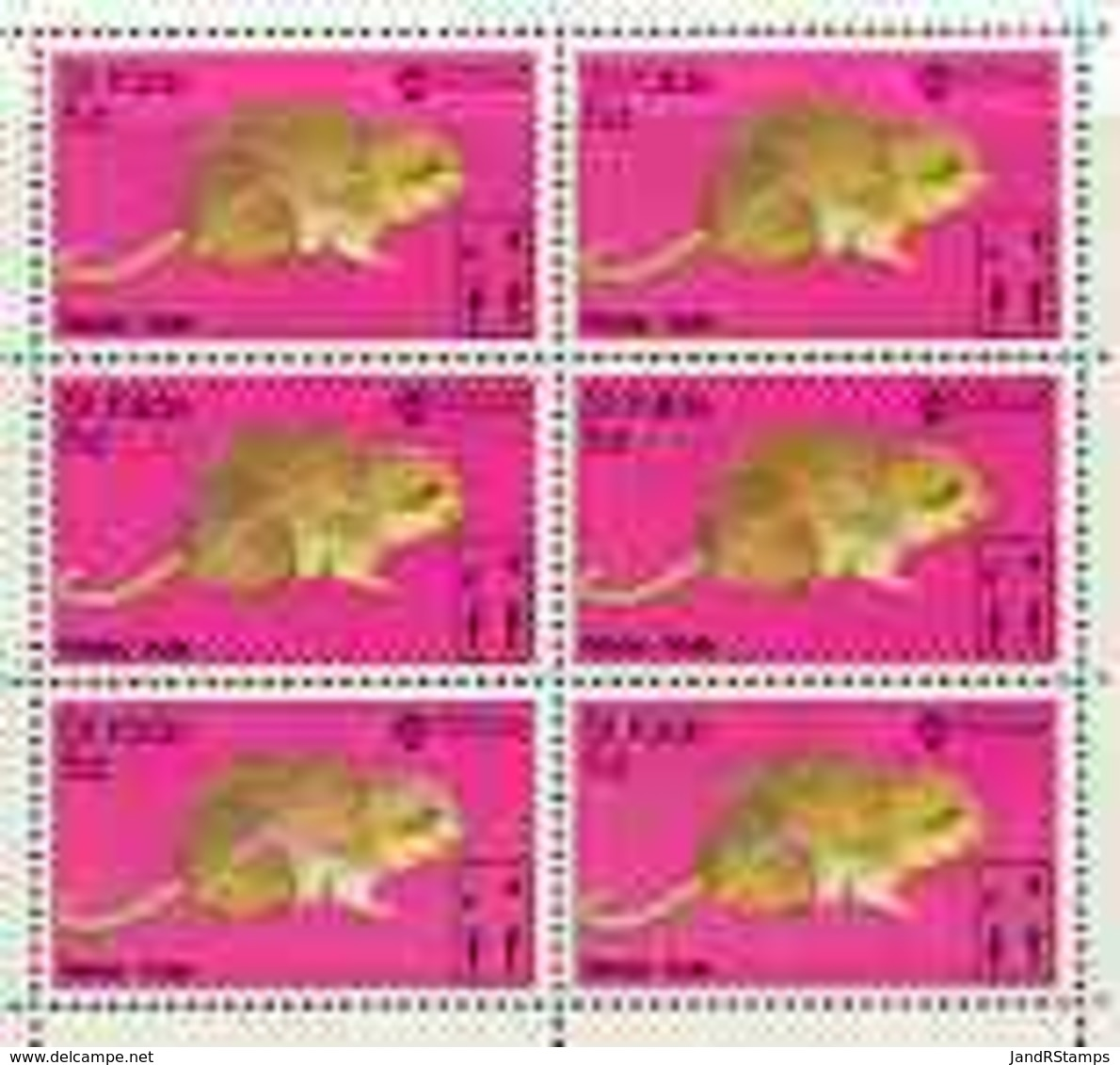St Kilda 1970 Water Vole 5d Complete Perf Sheetlet Of 6 (from Wildlife Set) U/m ANIMALS - Local Issues