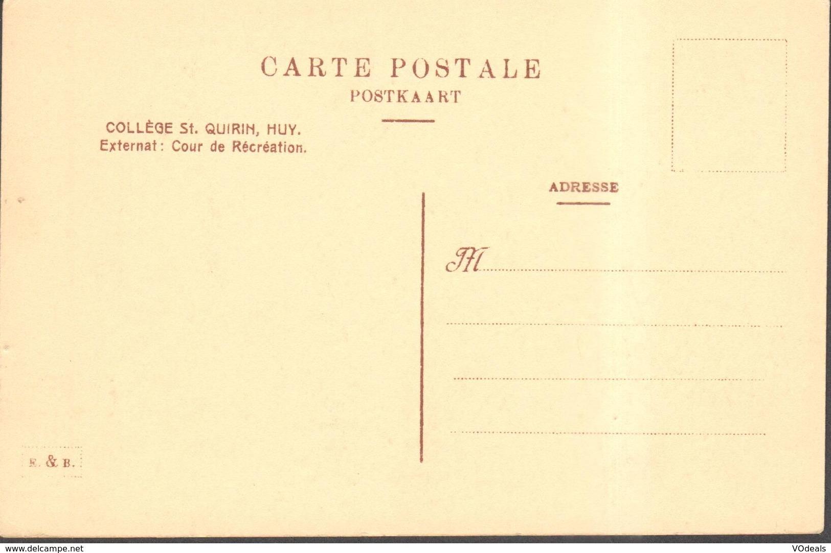 CPA - Belgique -  Liège - Huy - Collège St. Quirin - Externat - Cour De Récréation - Huy