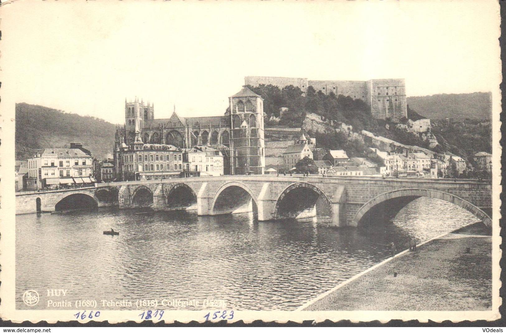 CPA - Belgique -  Liège - Huy - Pontia - Tchestia - Collégiale - Huy