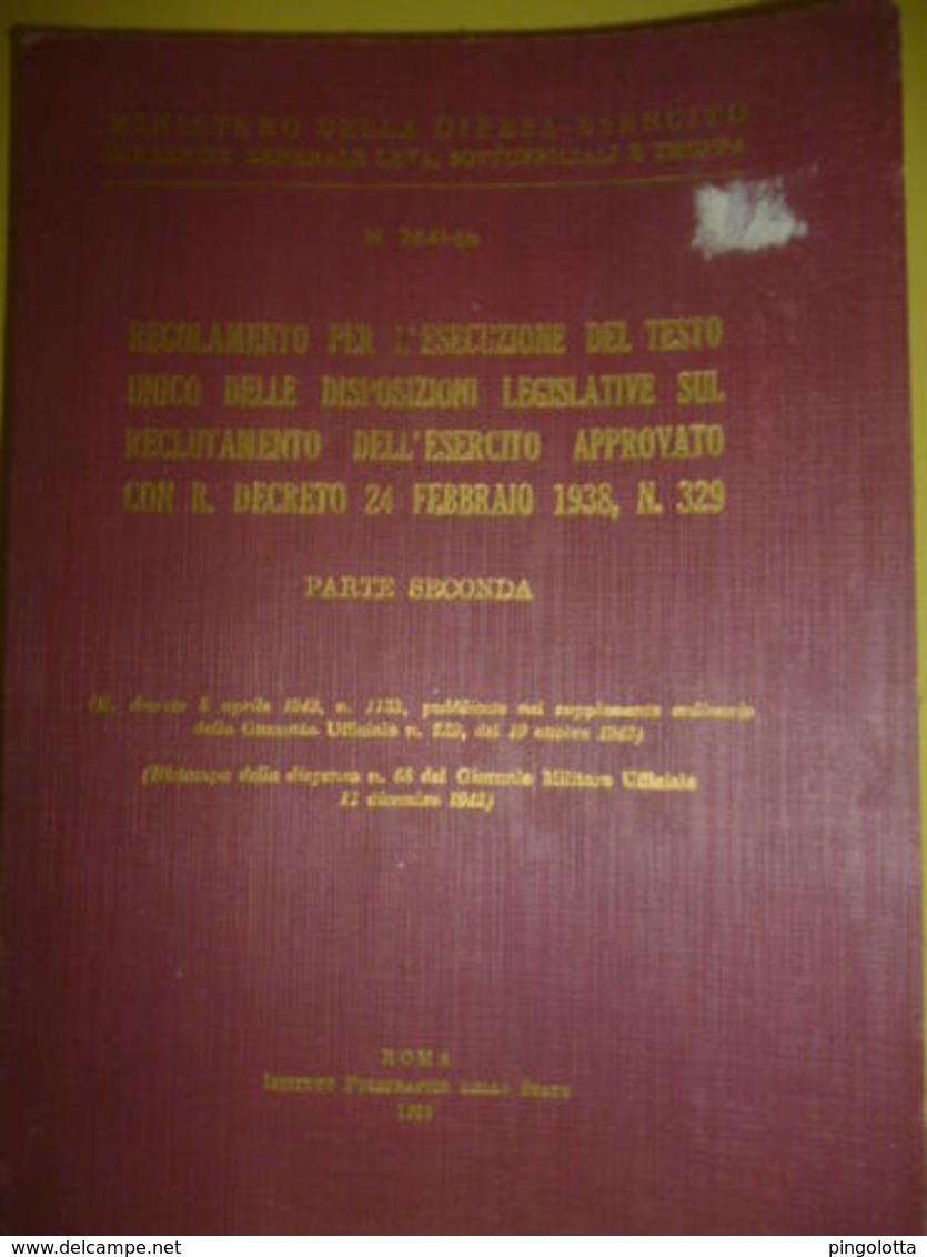 RECLUTAMENTO DELL' ESERCITO Ediz. 1959 Parte Seconda - Libri