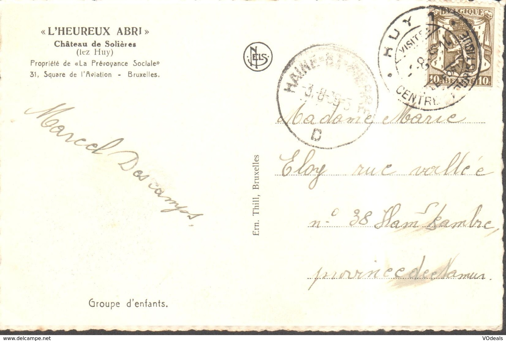 CPA - Belgique -  Liège - Huy - L'heureux Abri - Château De Solières - Huy