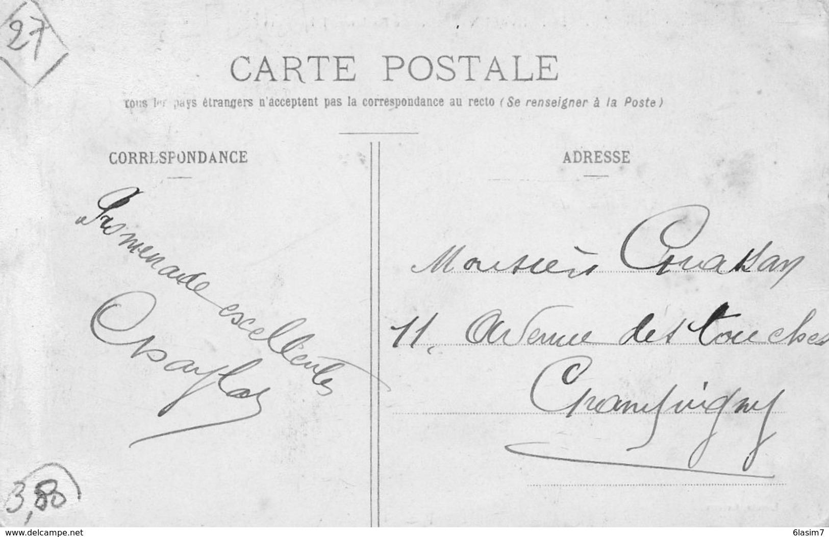 CPA - EVREUX (27) - Aspect De L'OCTROI A L'entrée De La Ville Par Le Boulevard Jules-Janin En 1908 - Evreux