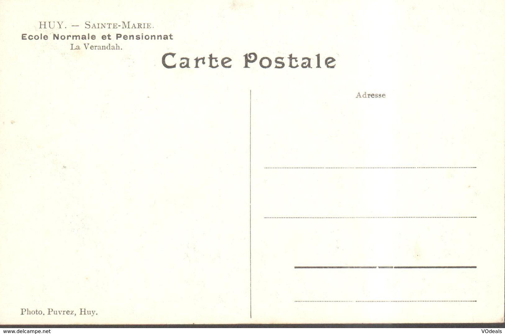 CPA - Belgique -  Liège - Huy - Sainte-Marie - Ecole Normale Et Pensionnat - La Veranda - Huy