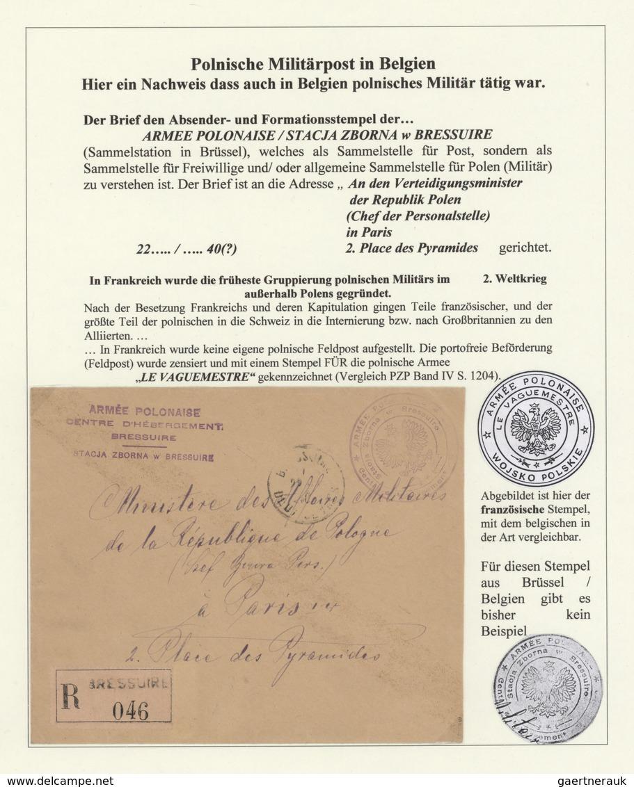 Polen - Besonderheiten: 1940, 2 March - 14 June, Polish Forces On The Western Front (France), Collec - Poland