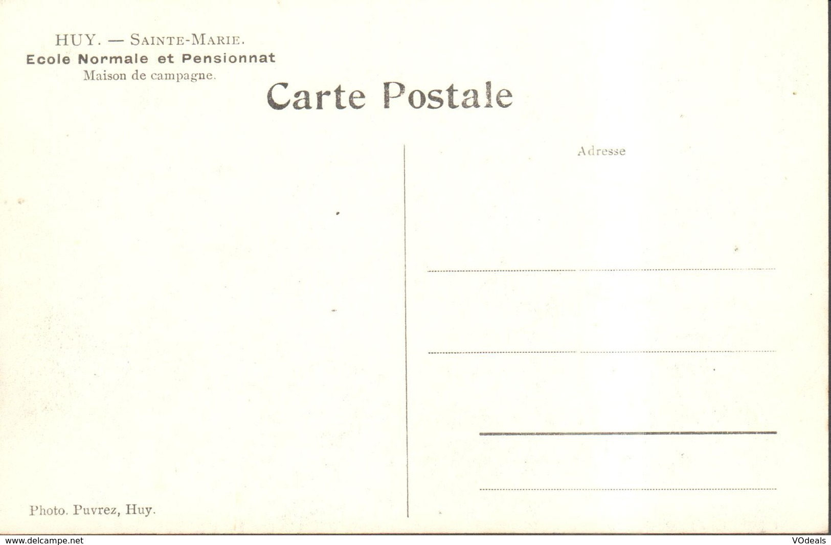 CPA - Belgique -  Liège - Huy - Sainte-Marie - Ecole Normale Et Pensionnat - Maison De Campagne - Huy