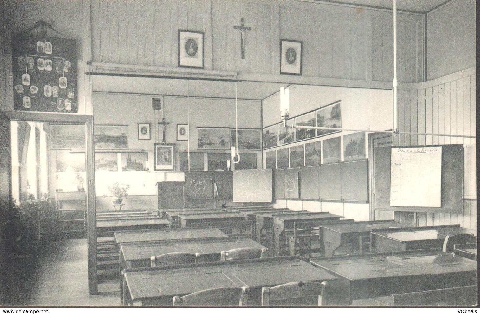 CPA - Belgique -  Liège - Huy - Sainte-Marie - Une Classe De L'école Normale - Huy