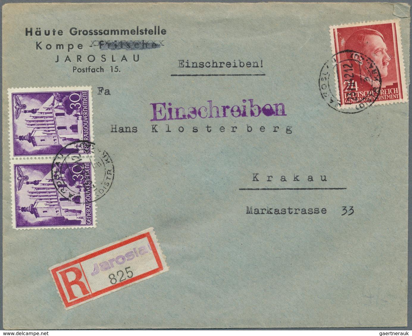 Dt. Besetzung II WK - Generalgouvernement: 1939-1944, Partie Mit 120 Briefen, Belegen Und Ganzsachen - Occupation 1938-45