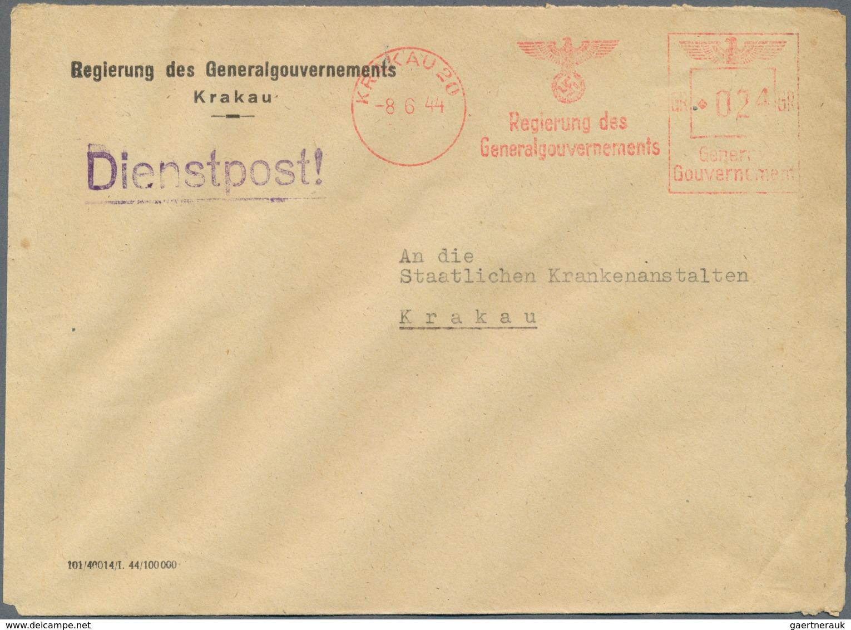 Dt. Besetzung II WK - Generalgouvernement: 1942-44 FIRMENFREISTEMPEL: Sechs Briefumschläge Mit Frühe - Occupation 1938-45