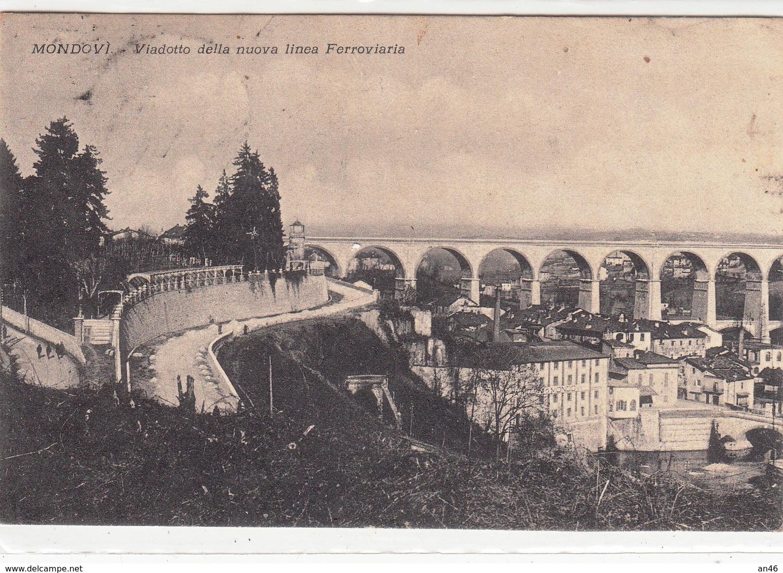 Mondovi-Viadotto Della Nuova Linea Ferroviaria -Vg Il-1923-Integra E Originale Al 100%-2 Scann- - Cuneo