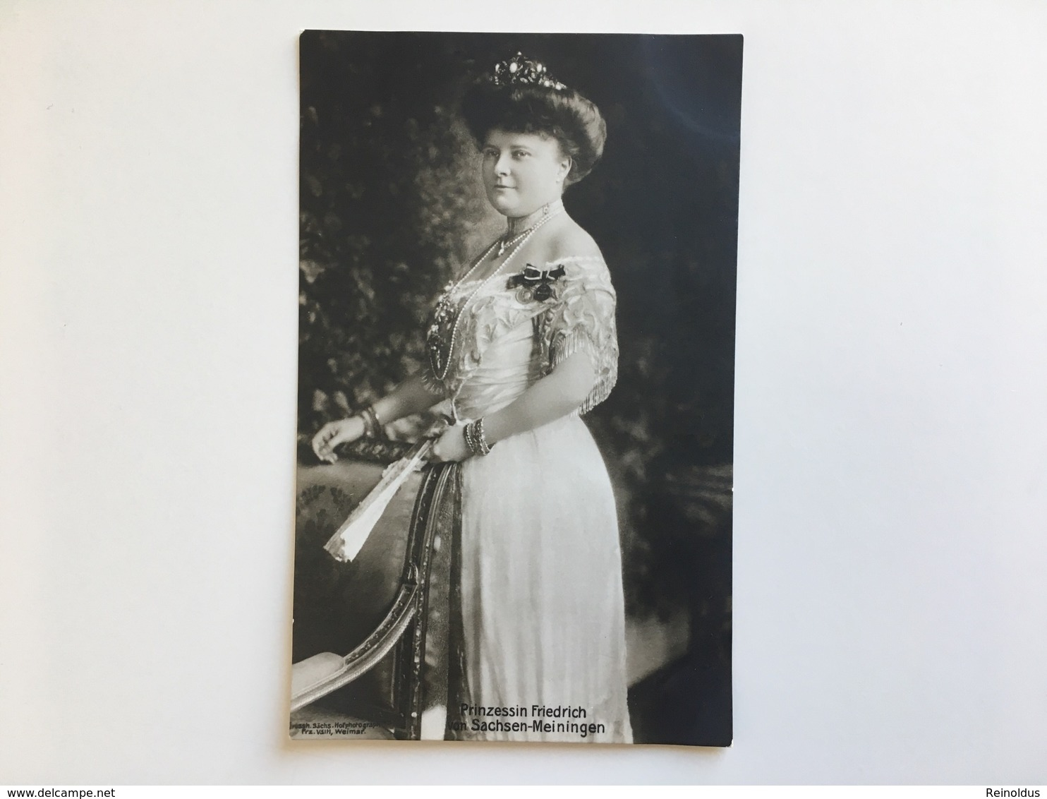 AK Adel Prinzessin Friedrich Von Sachsen Meiningen - Familles Royales