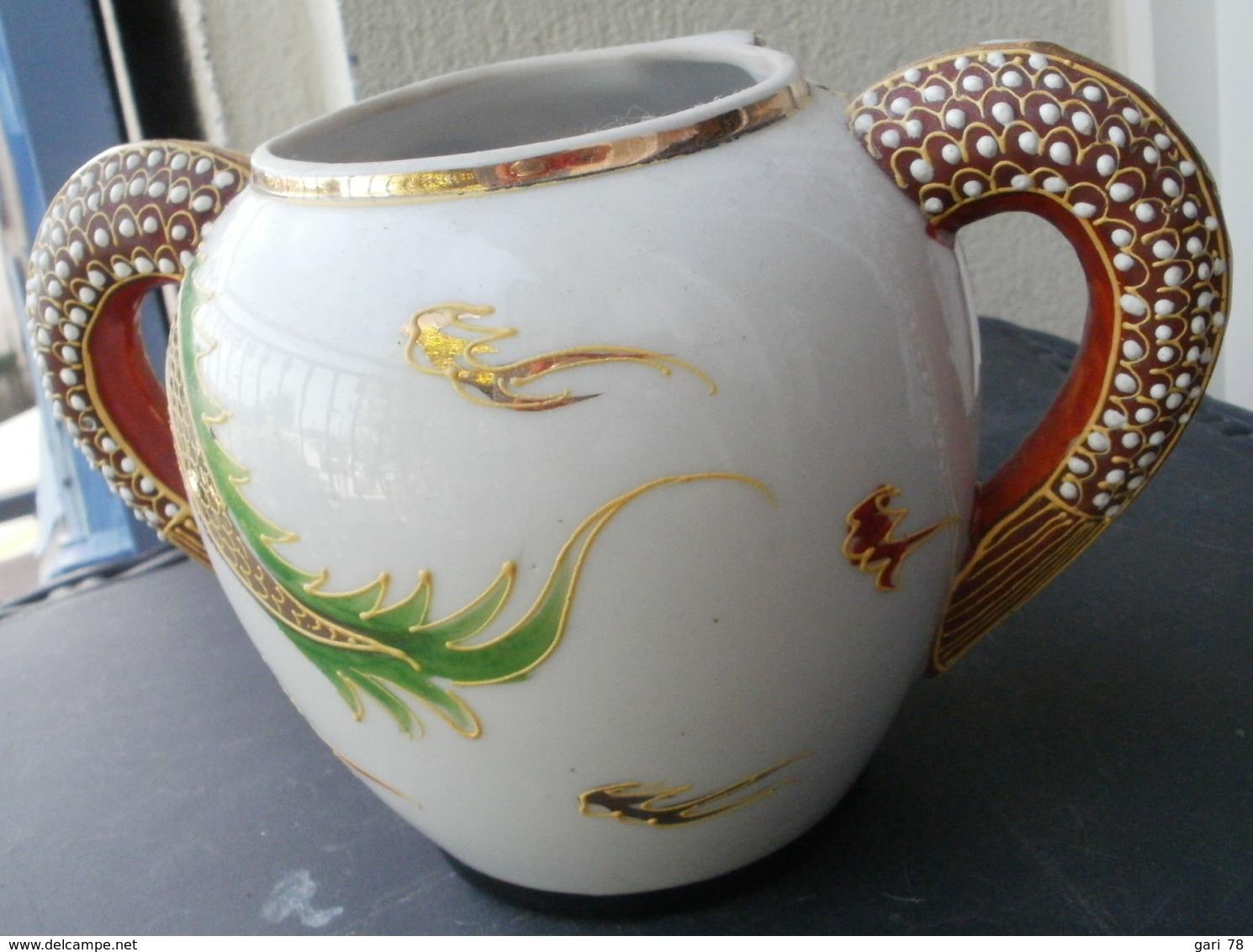 SUCRIER En Porcelaine Du Japon, Tête De Dragon  Pas De Couvercle - Autres