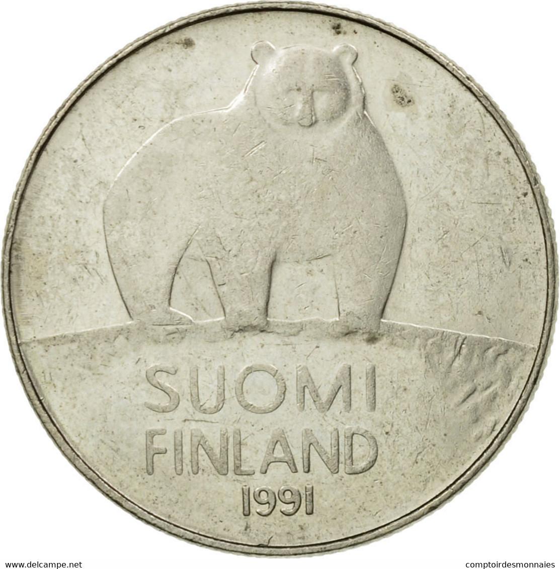 Monnaie, Finlande, 50 Penniä, 1991, TB+, Copper-nickel, KM:66 - Finlande