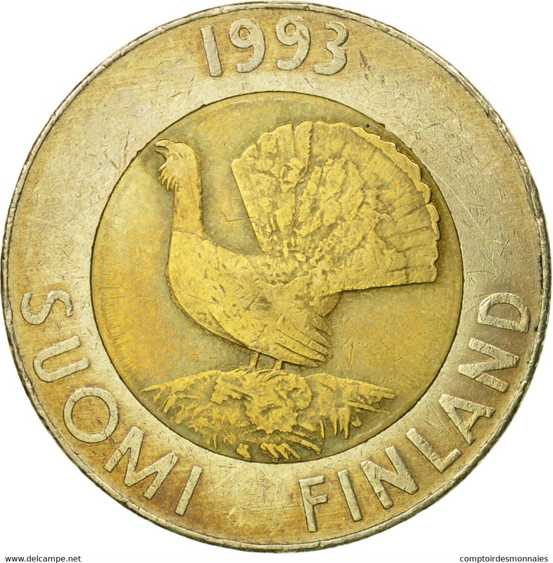 Monnaie, Finlande, 10 Markkaa, 1993, TB+, Bi-Metallic, KM:77 - Finlande