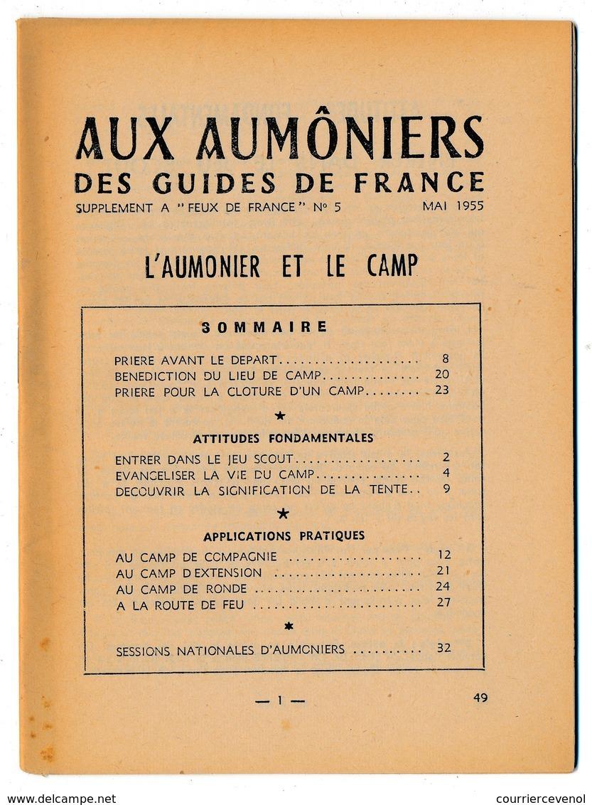 SCOUTISME - Aux Aumôniers Des GUIDES DE FRANCE - L'Aumônier Et Le Camp Mai 1955 + Epreuves Religieuses... - Scouting